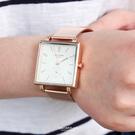 手錶 氣質玫金方型腕錶【NE2030】單...