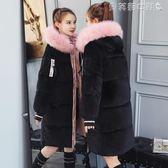 羽絨外套羽絨棉服新款棉衣中長款棉襖女bf韓版金絲絨加厚冬裝外套 貝芙莉