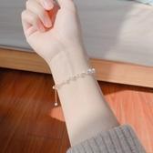 天然珍珠手錬女淡水米珠美國14K包金不褪色簡約禮物 喵小姐
