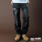 BIG TRAIN BLACKBIKER潮洗垮褲-男-黑色