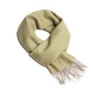 Alpaka Scarf 100% 30x200cm 極致魚骨紋系列 素面單色 羊駝毛 超輕量 圍巾(原野綠意)