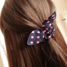 布藝兔耳彈性髮圈 不挑色 兒童髮飾 造型髮圈