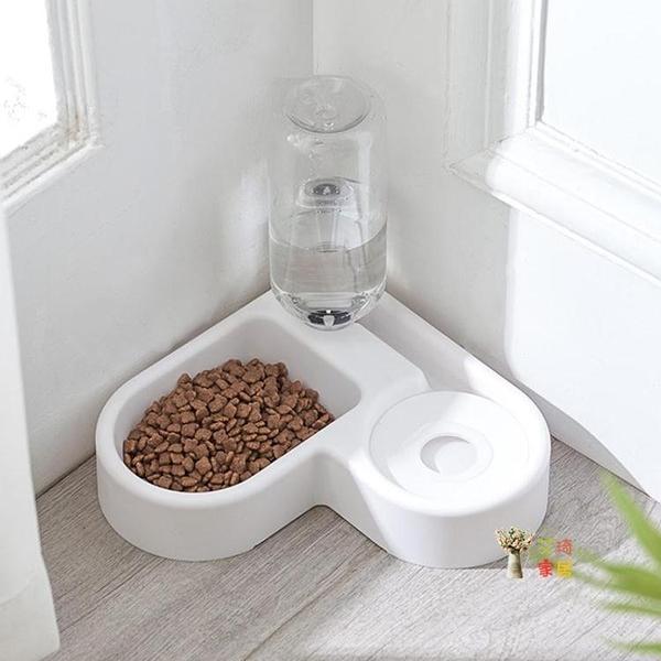 寵物飲水機 貓碗貓食狗碗保護頸椎防打翻雙碗自動飲水器不濕嘴餵食碗寵物用品