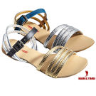 【Nami&Yami】涼鞋 ㊣日本空運✈ 初夏閃耀金銀邊條平底涼鞋(金/銀)