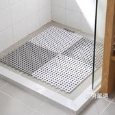 一件免運-浴室止滑墊洗澡間浴室防滑墊拼接方形家用衛生間隔水地墊淋浴房衛浴腳墊3色