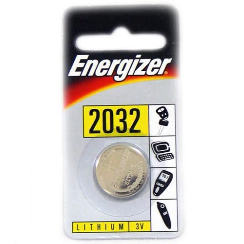 Energizer勁量CR2032水銀電池3V鋰電池(吊卡1入)