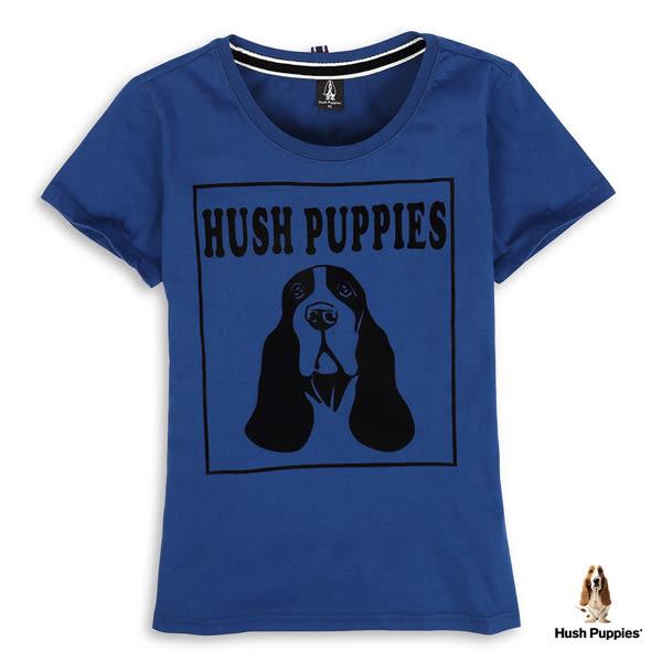 Hush Puppies 女裝植絨狗頭印花棉質短袖T恤