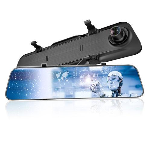 CORAL 12吋全屏2K觸控電子雙錄後視鏡AL5【愛買】