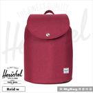 Herschel 後背包 酒紅 束口袋磁扣設計 Reid W-1158  MyBag得意時袋