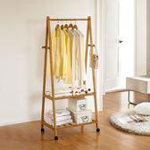 衣架落地實木衣帽架創意客廳抽屜現代簡約臥室衣架置物架 艾尚旗艦店
