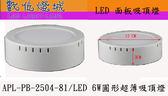 燈城LED Light Link ~APL PB 2504 81 LED 超薄圓形吸頂面