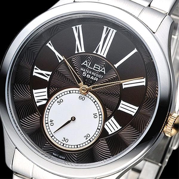 ALBA 羅馬騎士風情經典時尚男錶-黑(AN4025X1)