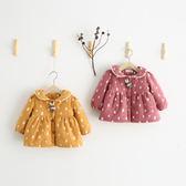 滿版小兔印花加厚洋裝外套 童裝 刷毛外套 洋裝