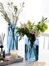 簡約方形玻璃花瓶透明北歐水培瓶擺件插花器【小獅子】