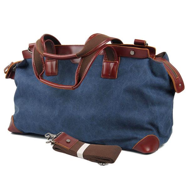 換換包!Changebag!歐系旅行休閒波士頓包牛皮帆布包