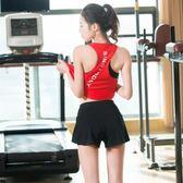 健身服女套裝2018夏季新款韓國顯瘦運動服女
