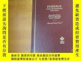 二手書博民逛書店EVIDENCE罕見CASES AND MATERLALS SI