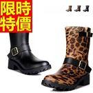 雨靴-女雨具防滑流行防水女中筒雨鞋3色5...