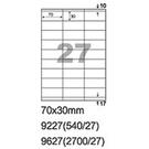 阿波羅 9227 A4 雷射噴墨影印自黏標籤貼紙 27格 70x30mm 20大張入