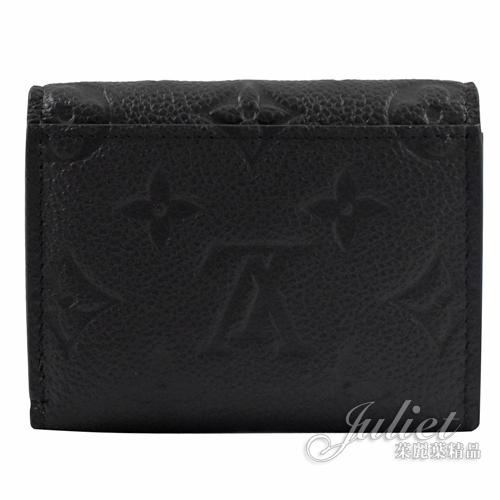 Louis Vuitton LV M62935 Zoé 經典花紋全皮革壓紋三折短夾.黑 全新 預購【茱麗葉精品】