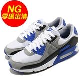 【US7-NG出清】Nike 休閒鞋 Wmns Air Max 90 OG 白 灰 藍 女鞋 經典配色 右腳黃 運動鞋 【ACS】