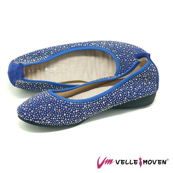 休閒鞋 便鞋 低跟鞋 VelleMoven 鞋面全鑽 閃亮登場 海軍藍
