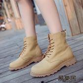 短靴英倫風學生韓版百搭機車靴