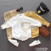 男寶寶純棉長袖襯衫百搭春秋新款3歲兒童襯衣4男童秋裝上衣5童裝-ifashion