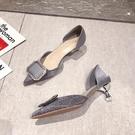 高跟鞋女細跟女鞋子2020年新款春季尖頭中空百搭水鉆仙女單鞋 LF6442【極致男人】