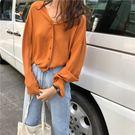 長袖襯衫    衫韓版復古港味秋寬鬆襯衫長袖網紅襯衣女社會    都市時尚