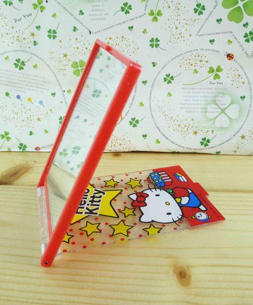 【震撼精品百貨】Hello Kitty 凱蒂貓-摺疊鏡-紅星