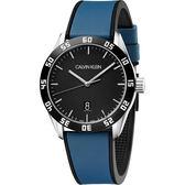 Calvin Klein CK 運動風格手錶-黑x藍/42mm K9R31CV1