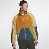C-NIKE NSW Fleece Jacket 黃 綠 男款 羔羊外套 絨毛 立領 外套 BV3722-727