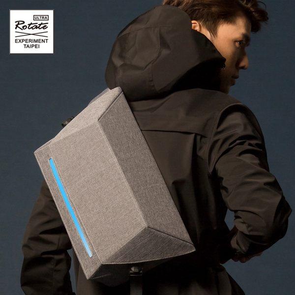 ROTATE GEOMETRY 立體幾何郵差包 原創 防水發光 反光安全多功能 未來側背包男包