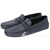 TOD'S Gommino Driving 編織細節打孔牛皮豆豆休閒鞋(深藍色) 1620295-34