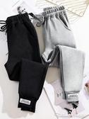 運動褲女褲寬鬆秋冬季新款哈倫褲加絨加厚束腳外穿休閒衛褲子 阿卡娜
