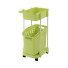 Richell 利其爾 雙層洗衣便利推車-綠