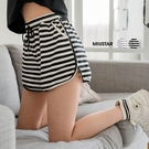 MIUSTAR 橫條鬆緊抽繩彈力棉質短褲(共2色)【NJ1932RE】預購
