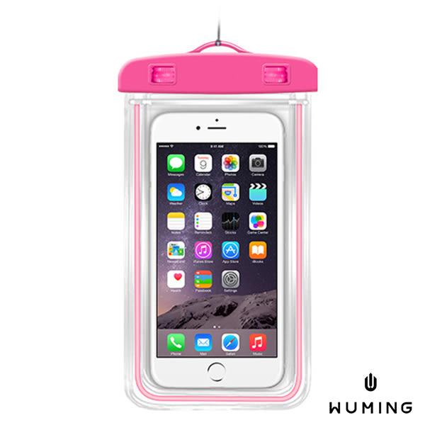 觸控式 夜光 防水手機袋 防水袋 收納袋 旅行 海邊 潛水 防水套 iPhone X 8 Plus i8 ix i7 『無名』 K01109