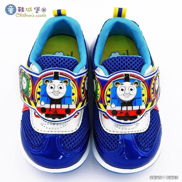 童鞋城堡- 小火車透氣運動鞋 湯瑪士 TH7004 藍
