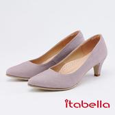 itabella.低調奢華閃耀尖頭高跟鞋(0228-65粉色)