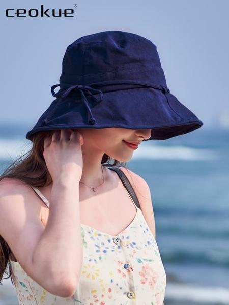 漁夫帽  帽子韓版百搭ins遮陽帽夏防曬紫外線大沿遮臉日繫