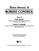 二手書博民逛書店《Recent Advances in Robust Control》 R2Y ISBN:0879422661