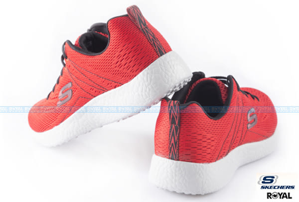 SKECHERS 新竹皇家 Burst 紅色 網布 輕量 避震 跑步鞋 男款 NO.A7839