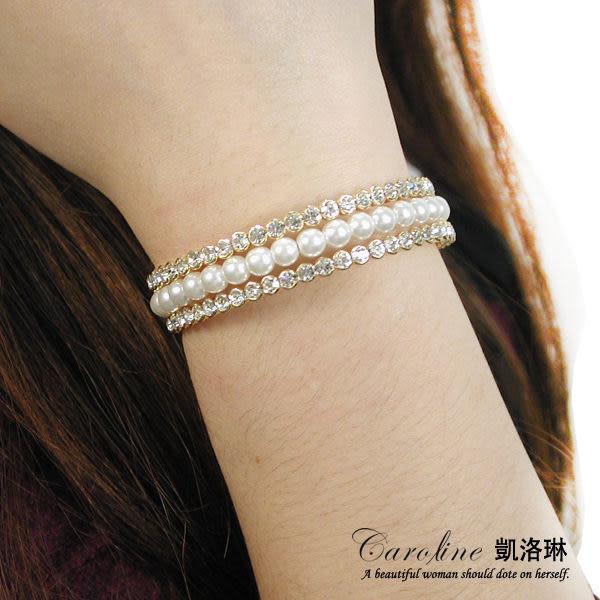 《Caroline》★韓國進口典雅設計優雅時尚品味流行時尚手環64935