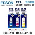 EPSON 3彩組 T06G250 / T06G350 / T06G450 原廠盒裝墨水 / 適用 L15160