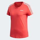 ADIDAS ESS 3-STRIPES 女裝 短袖 慢跑 訓練 吸濕 排汗 透氣 棉質 舒適 粉【運動世界】FM6431