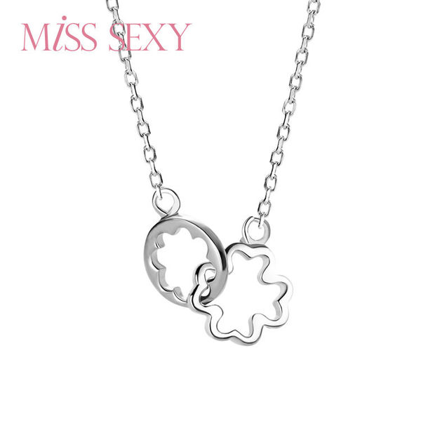 【MISS SEXY】MN332 / COLLECT ALL THE LOVES 將愛典藏。項鍊系列 - 【遇見幸運草】銀飾項鍊