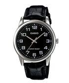 【台南 時代鐘錶 CASIO】卡西歐 台灣公司貨 MTP-V001L-1B 簡潔俐落型男紳士魅力指針腕錶