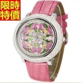 鑽錶-復古有型獨特女手錶5色5j3[巴黎精品]